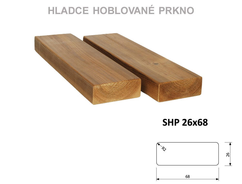 Prkno THERMOWOOD SHP 26x68, délka 3000mm