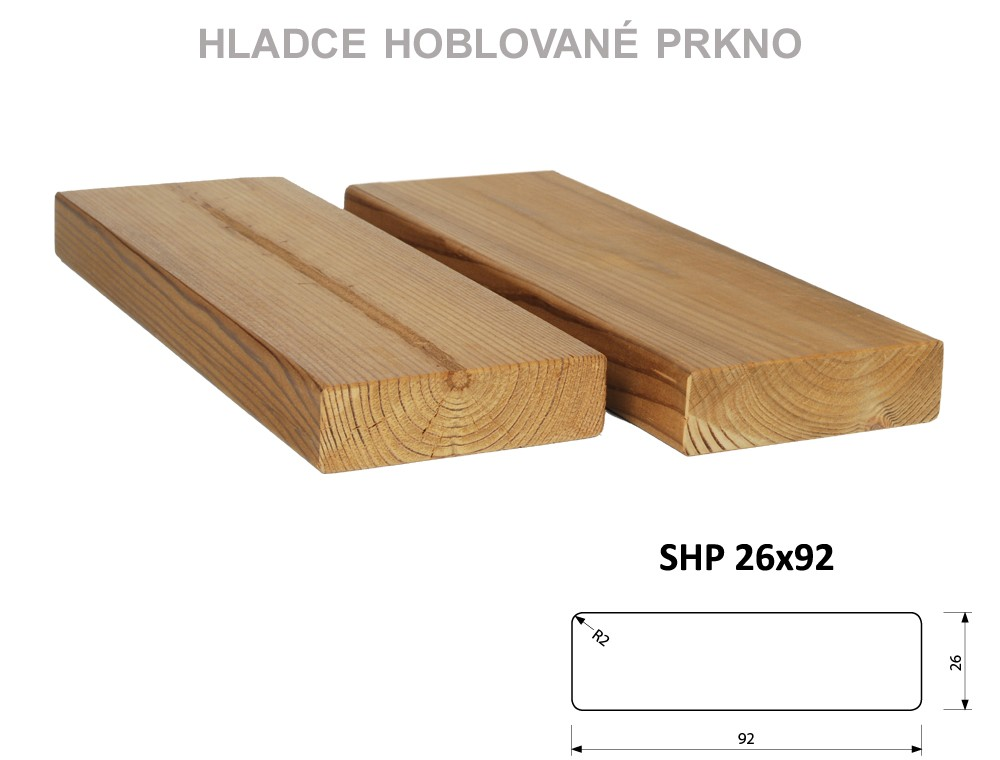 Prkno THERMOWOOD SHP 26x92, délka 3000mm