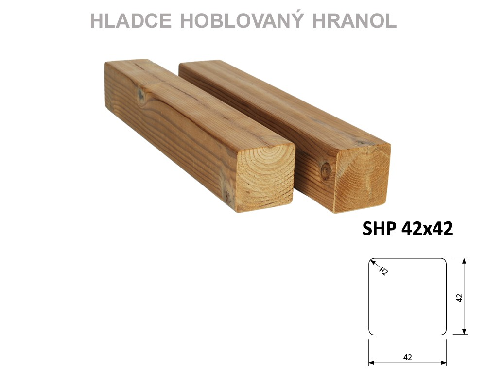 Prkno THERMOWOOD SHP 42x42, délka 3000mm