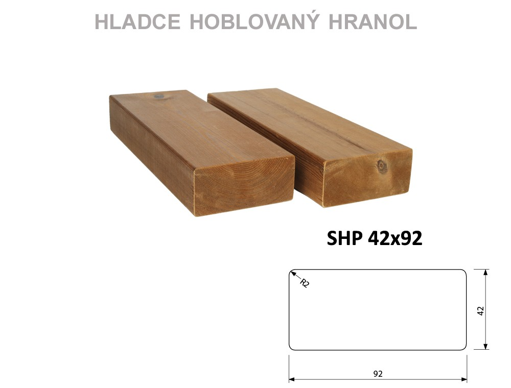 Prkno THERMOWOOD SHP 42x92, délka 3000mm