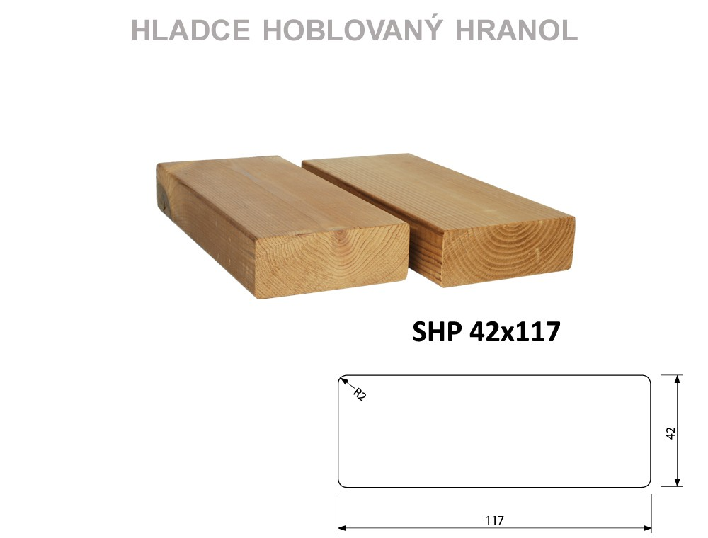 Prkno THERMOWOOD SHP 42x117, délka 3900mm