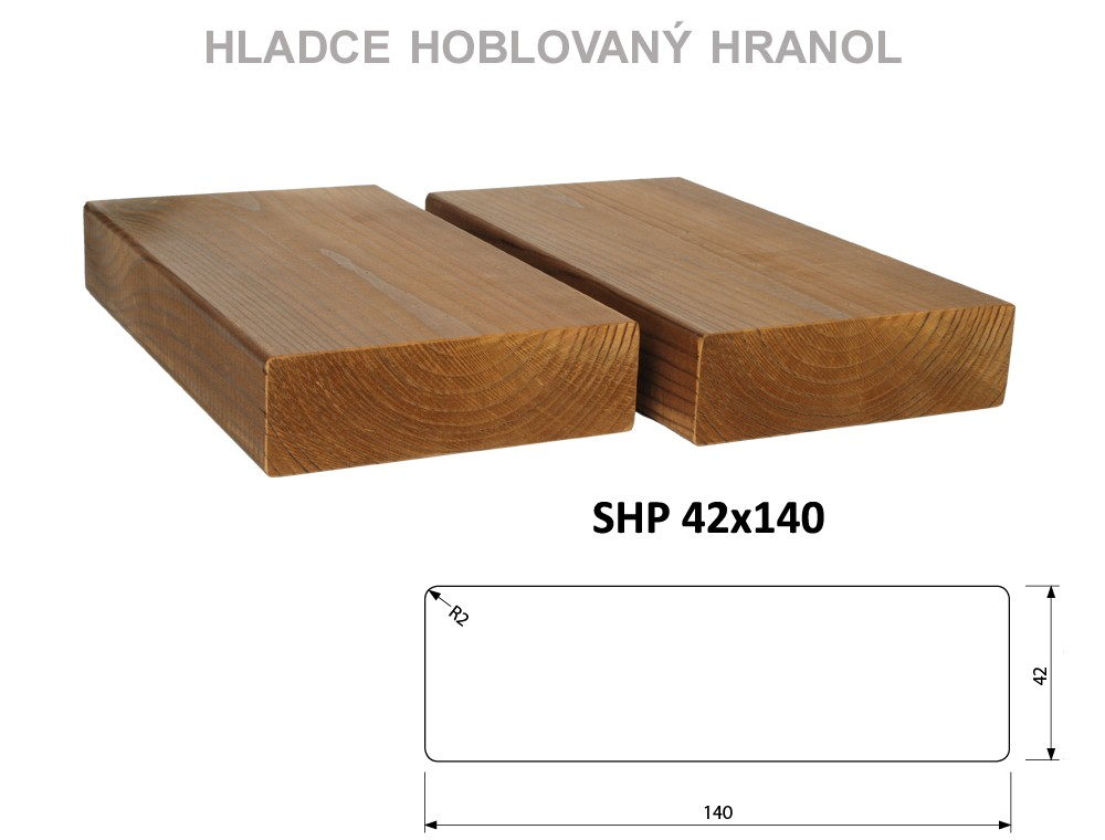 Prkno THERMOWOOD SHP 42x140, délka 4200mm