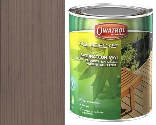 Nátěr OWATROL AQUADECKS GREY- 1L