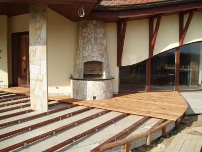Založení terasy na betonové desce
