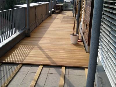 Založení terasy na stávající dlažbu