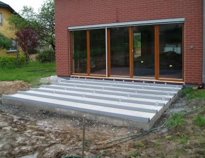 Založení terasy na betonové desce + jäkl
