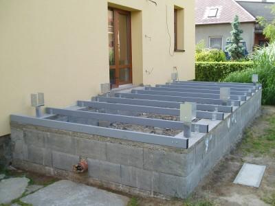 Založení terasy na betonové pásy + jäkl